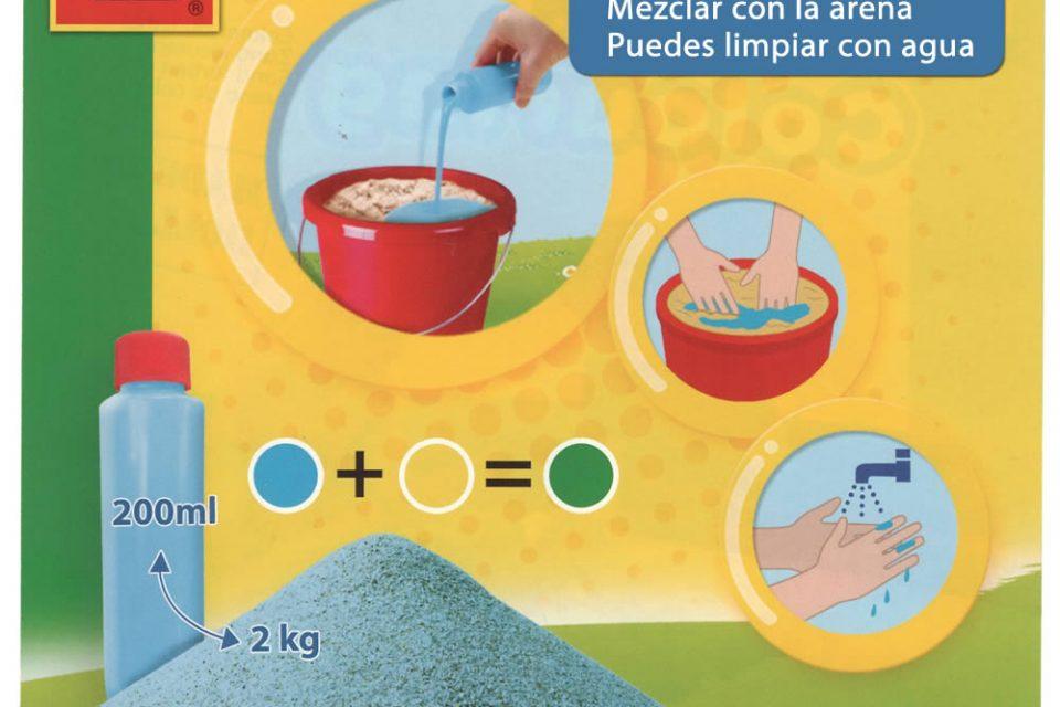 Instrucciones para la pintura para colorear arena de SES Creative