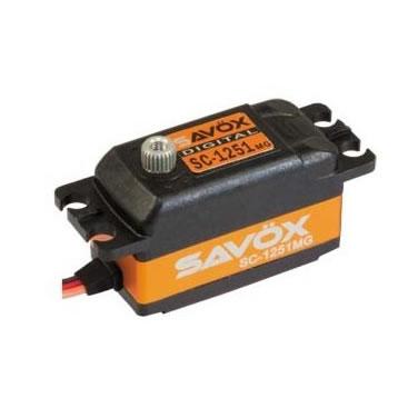 Servo Savox SC1251MG 0,09 segundos, 9kg de fuerza