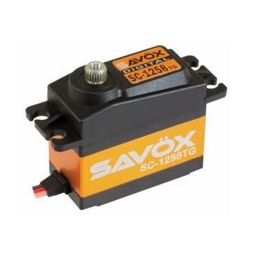 Servo Savox SC 1258 TG 0,08 segundos, par 12Kg.