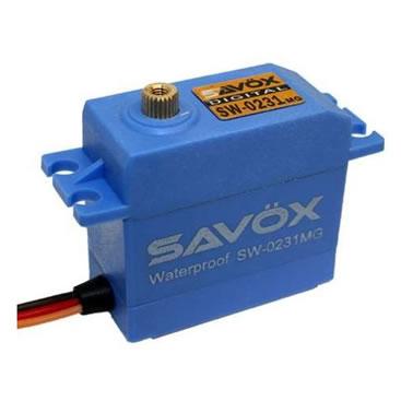 Servo Savox SW 0231 MG Waterproof 0,17 segundos, 15Kg de fuerza